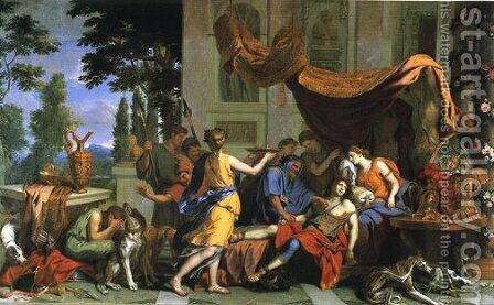 Death of Meleager by Charles Le Brun - Reproduction Oil Painting