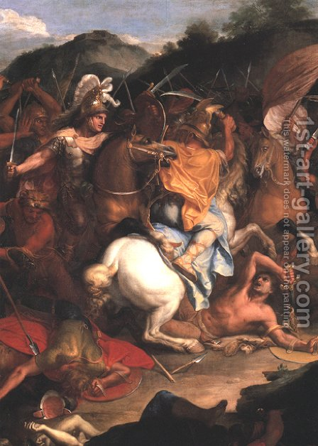 The Passage of the Granicus (detail) by Charles Le Brun - Reproduction Oil Painting