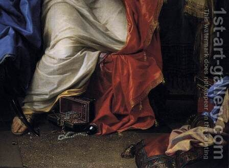 The Repentant Magdalen (detail) by Charles Le Brun - Reproduction Oil Painting