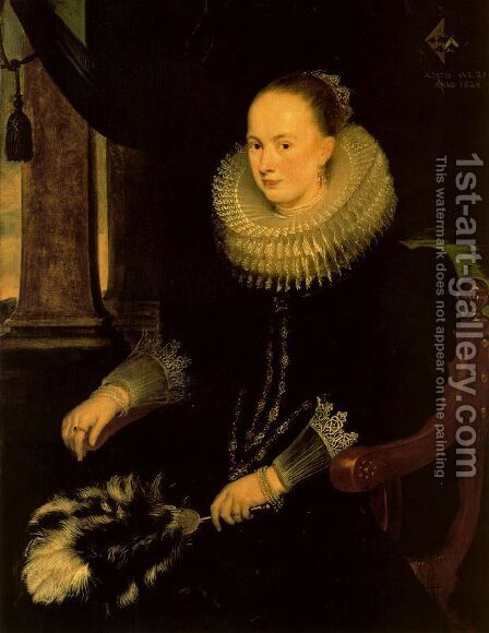 Antonia Canis by Cornelis De Vos - Reproduction Oil Painting