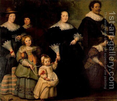 Family Portrait by Cornelis De Vos - Reproduction Oil Painting
