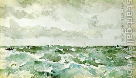 Blue and Silver, The Chopping Channel by James Abbott McNeill Whistler - Reproduction Oil Painting