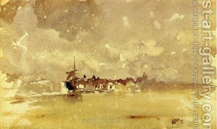 Gold and Grey, the Sunny Shower by James Abbott McNeill Whistler - Reproduction Oil Painting