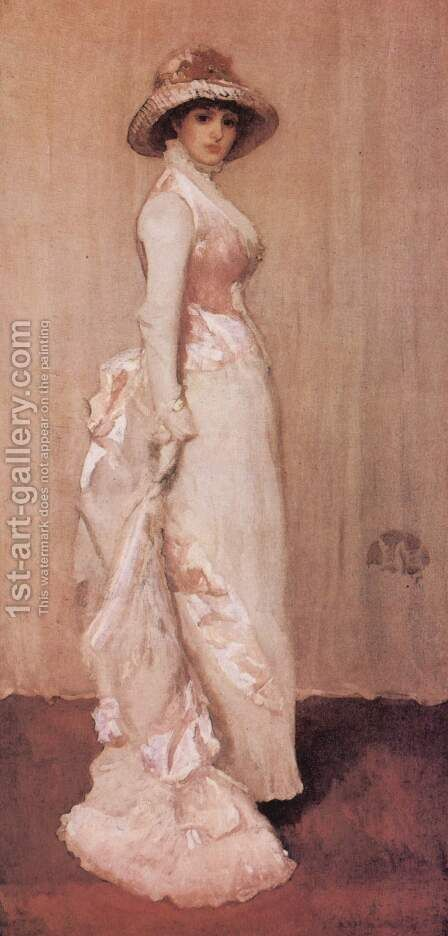 Nocturne in Rosa und Grau, Porträt der Lady Meux by James Abbott McNeill Whistler - Reproduction Oil Painting