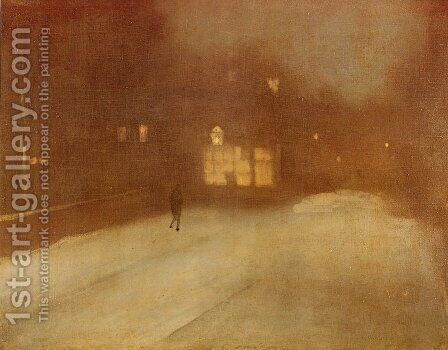 Nocturne, Grey and Gold by James Abbott McNeill Whistler - Reproduction Oil Painting