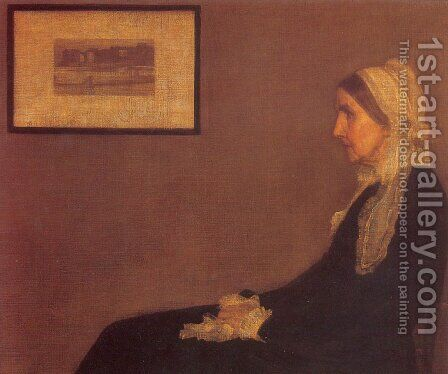 Portrait of his Mother by James Abbott McNeill Whistler - Reproduction Oil Painting