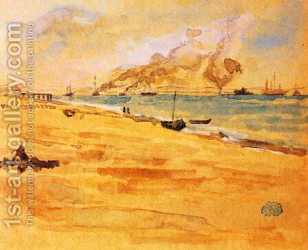 Study for 'Mouth of the River' by James Abbott McNeill Whistler - Reproduction Oil Painting