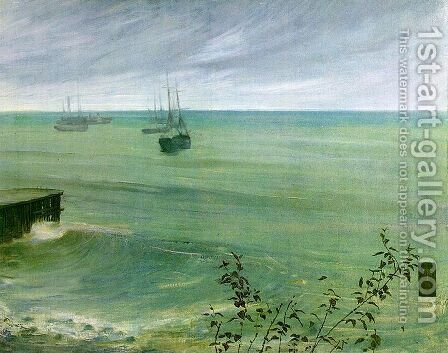 Symphony in Grey and Green, The Ocean by James Abbott McNeill Whistler - Reproduction Oil Painting