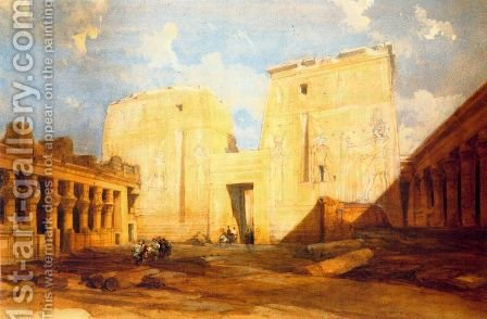 Under the great door of Philae by David Roberts - Reproduction Oil Painting