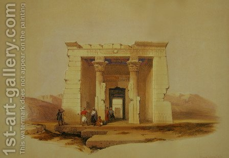 09 Temple of Dandour, Numbia by David Roberts - Reproduction Oil Painting
