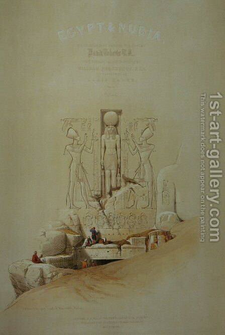 Egypt and Nubia, frontpage of Vol. 1 by David Roberts - Reproduction Oil Painting