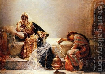 Sheherazade by Edouard Frédéric Wilhelm Richter - Reproduction Oil Painting