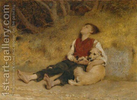 His Only Friend by Briton Rivière - Reproduction Oil Painting