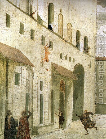 St Francis cycle, Resurrection of the Boy (detail 4) by Domenico Ghirlandaio - Reproduction Oil Painting