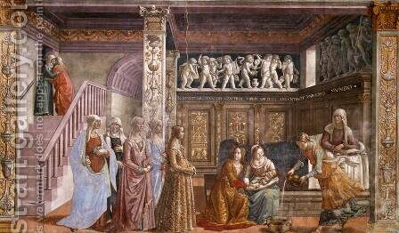 02, Birth of Mary by Domenico Ghirlandaio - Reproduction Oil Painting