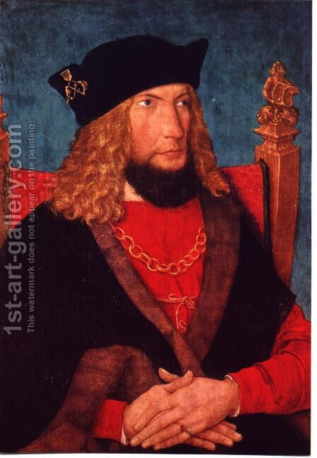 Maximilian I by Bernhard Strigel - Reproduction Oil Painting