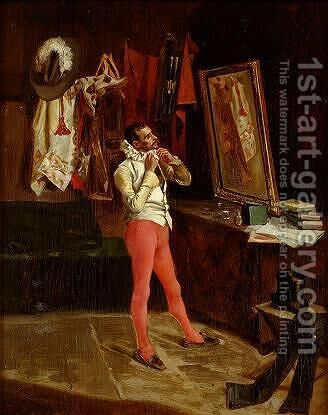 Preparing for Costumes Dance by Eduardo Zamacois y Zabala - Reproduction Oil Painting