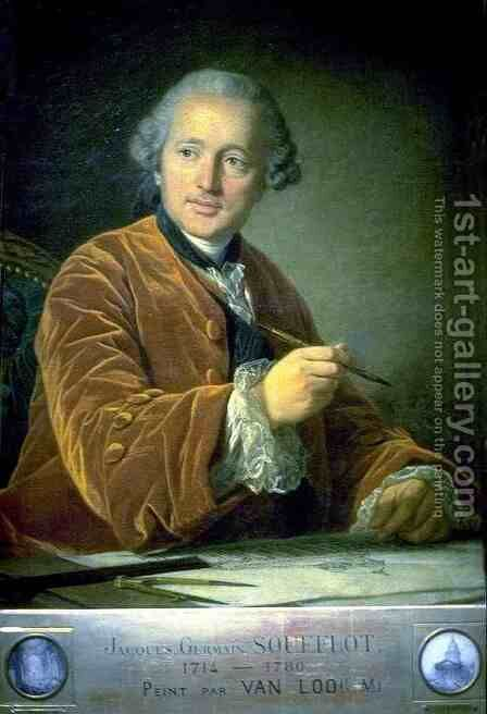 Jacque Soufflot, Architect by Carle van Loo - Reproduction Oil Painting