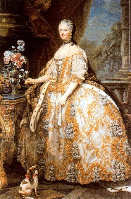 Maria Leszczynska by Carle van Loo - Reproduction Oil Painting