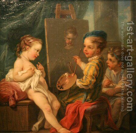 Painting by Carle van Loo - Reproduction Oil Painting