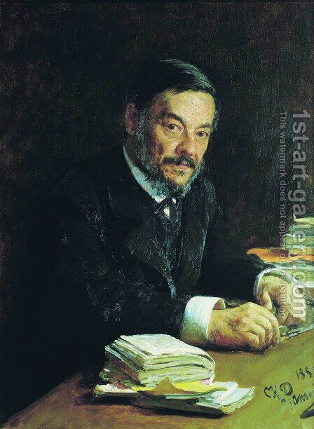 Portrait of Ivan Mikhaylovich Sechenov, Russian physiologist by Ilya Efimovich Efimovich Repin - Reproduction Oil Painting