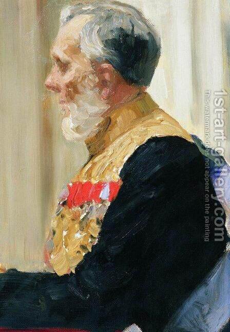 Portrait of Secretary of State and member of State Council Count Konstantin Ivanovich Palen by Ilya Efimovich Efimovich Repin - Reproduction Oil Painting