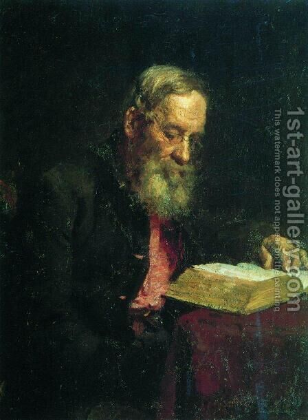 Portrait of Yefim Vasilyevich Repin, the artist's father by Ilya Efimovich Efimovich Repin - Reproduction Oil Painting
