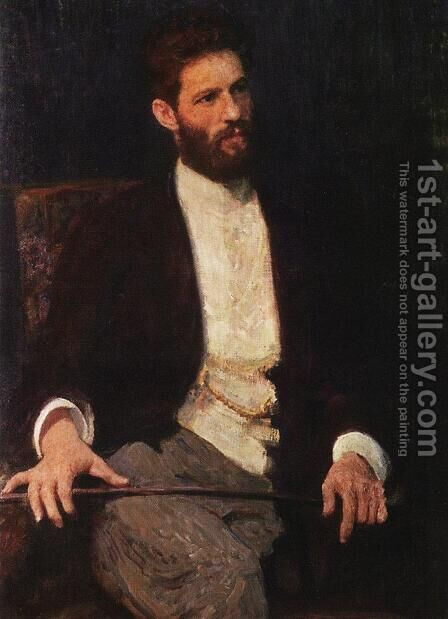 Portrait of sculptor Mark Matveevich Antokolski by Ilya Efimovich Efimovich Repin - Reproduction Oil Painting