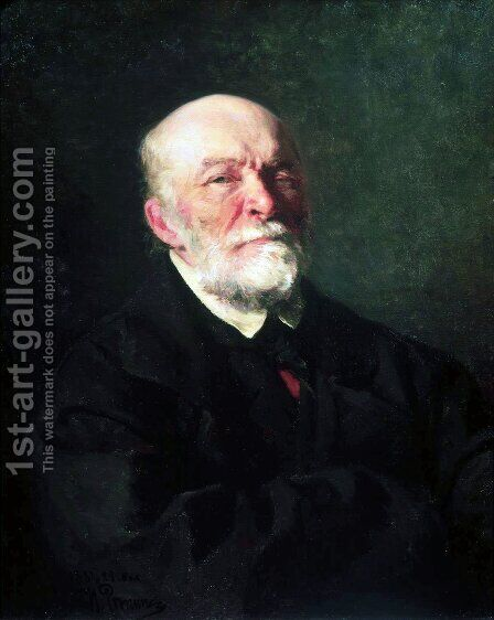 Portrait of the Surgeon Nikolai Ivanovich Pirogov by Ilya Efimovich Efimovich Repin - Reproduction Oil Painting