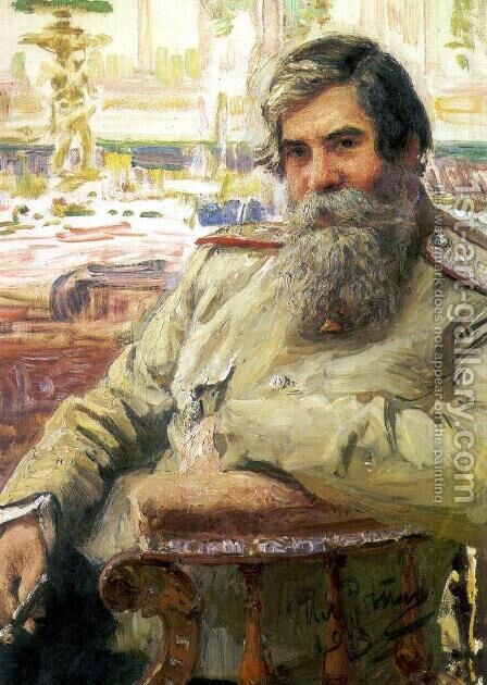 Portrait of the neurophysiologist and psychiatrist Vladimir Mikhailovich Bekhterev by Ilya Efimovich Efimovich Repin - Reproduction Oil Painting