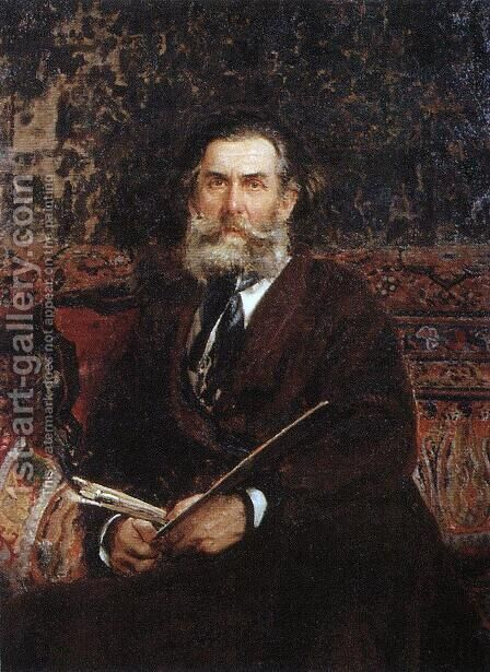 Portrait of the painter Alexey Petrovich Bogoliubov 2 by Ilya Efimovich Efimovich Repin - Reproduction Oil Painting