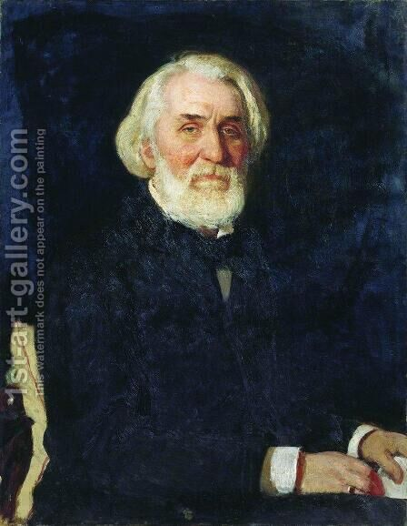 Portrait of writer Ivan Sergeyevich Turgenev by Ilya Efimovich Efimovich Repin - Reproduction Oil Painting
