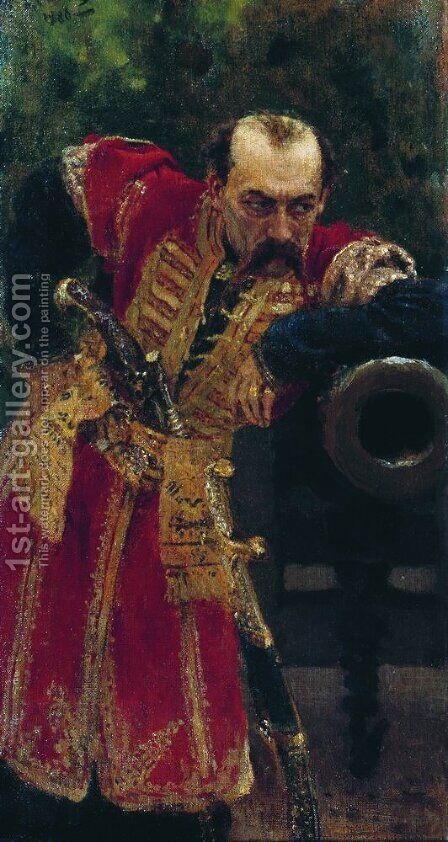 Zaporozhian colonel by Ilya Efimovich Efimovich Repin - Reproduction Oil Painting
