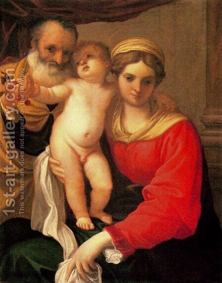 Madonna with cherries by Annibale Carracci - Reproduction Oil Painting