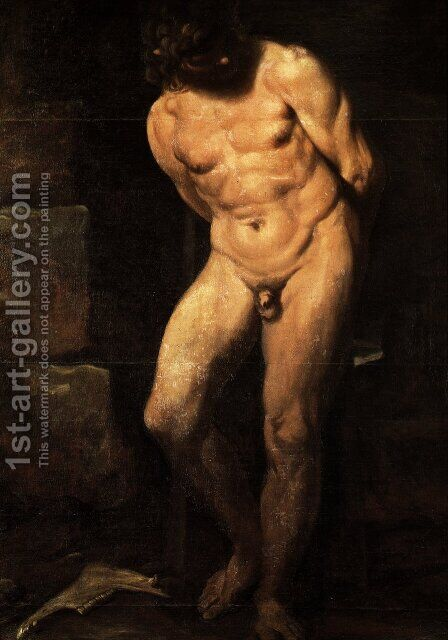 Samson Imprisoned by Annibale Carracci - Reproduction Oil Painting
