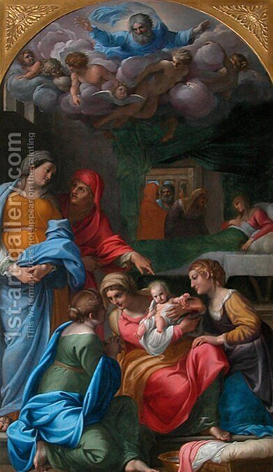 The Birth of the Virgin by Annibale Carracci - Reproduction Oil Painting