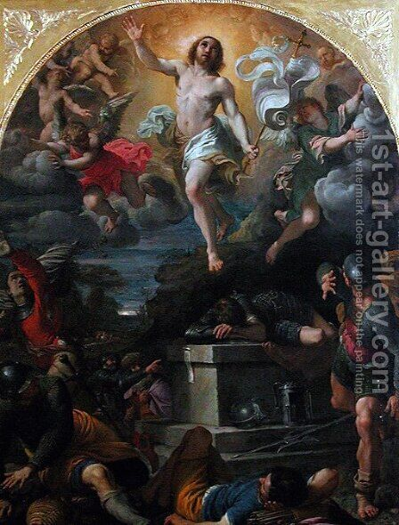 The Resurrection of Christ by Annibale Carracci - Reproduction Oil Painting
