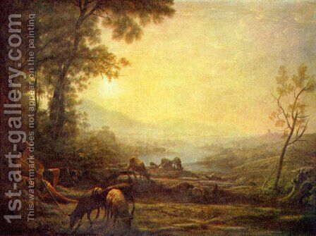 Hirte by Claude Lorrain (Gellee) - Reproduction Oil Painting