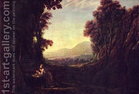 Landscape with Magdalena by Claude Lorrain (Gellee) - Reproduction Oil Painting