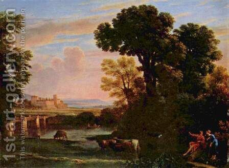 Landscape with Shepherd (Pastorale) by Claude Lorrain (Gellee) - Reproduction Oil Painting