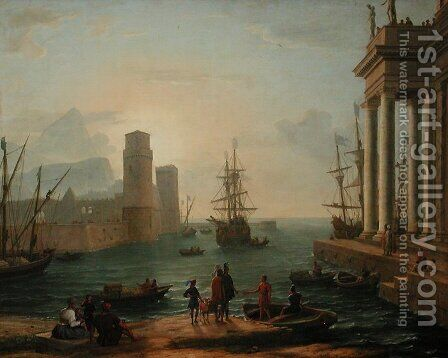 Port, fog effect by Claude Lorrain (Gellee) - Reproduction Oil Painting