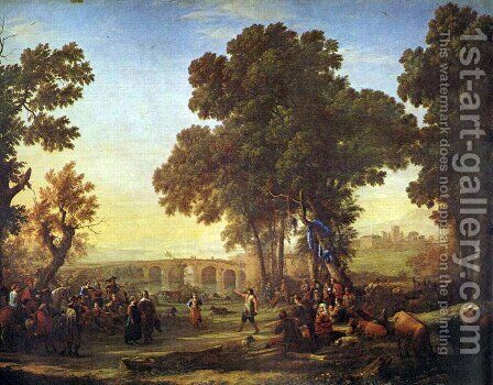 The village party by Claude Lorrain (Gellee) - Reproduction Oil Painting