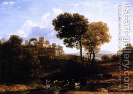 Villa at the Campagna in Rome by Claude Lorrain (Gellee) - Reproduction Oil Painting