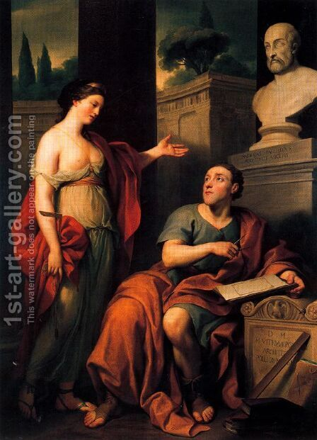 Allegorical portrait of James Caulfield, Lord Charlemont by Anton Raphael Mengs - Reproduction Oil Painting