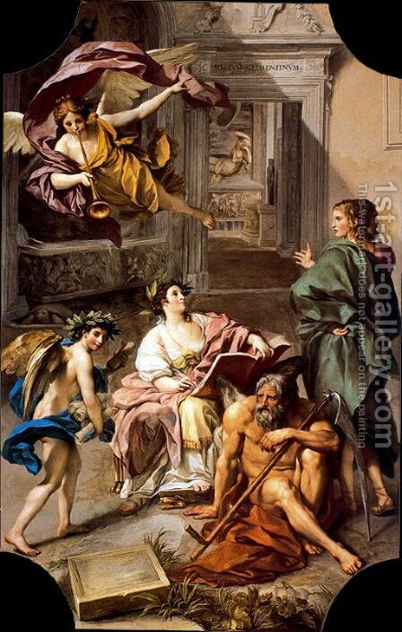 Allegory of History by Anton Raphael Mengs - Reproduction Oil Painting