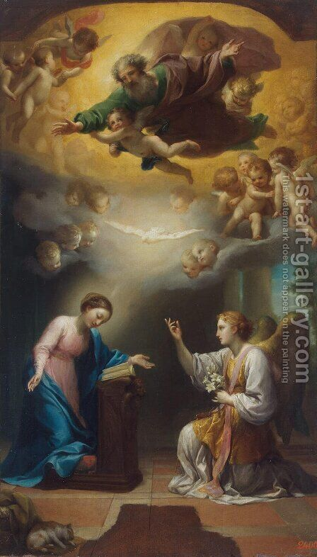 Annunciation 2 by Anton Raphael Mengs - Reproduction Oil Painting