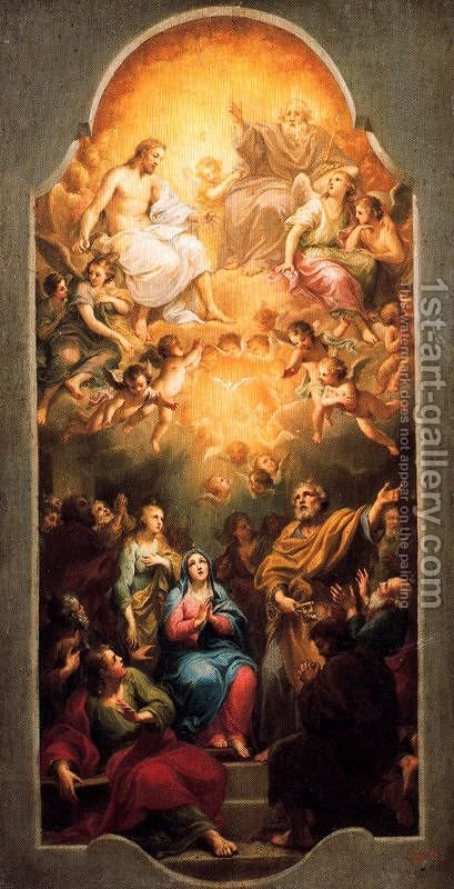 Descent of the Holy Spirit by Anton Raphael Mengs - Reproduction Oil Painting