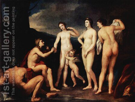 Judgement of Paris by Anton Raphael Mengs - Reproduction Oil Painting