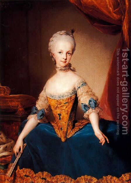 Maria Josefa de Lorena, Archduchess of Austria by Anton Raphael Mengs - Reproduction Oil Painting