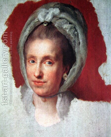 Maria Luisa de Borbon by Anton Raphael Mengs - Reproduction Oil Painting